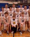 Photo provided by Jill Peterson - The 2020-21 Centreville varsity boys' basketball team. Pictured in the front row left to right are, Sam Todd, Tristan McElroy, Kaiden Scott (manager), Brandon Reed and Matt Lorencz; middle row, assistant coach Ken Scott, Gunner Bunning, Zach Vanderhoof, Travis Marshall, Henrik Payne and head coach Matt Price; back row, assistant coach Paul Swanwick, Kody Beachey, Dylan Palmer, Mason Lemings and Tyler Swanwick.