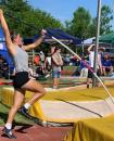 Photo provided by James Phillips - Three Rivers senior pole vaulter Ellana Haifley begins her attempt in the pole vault in Saturday's Division 2 state championships at Zeeland.