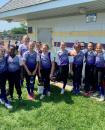 Photo provided by Kristin Osborn - The Three Rivers 8-9-10 year-old softball All-Star team, representing Michigan District 15, are all smiles  following their big 26-1 win over Big Rapids in their opening game of the Michigan State Little League Tournament in Rochester Hills.