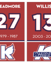 Photo provided by Kalamazoo  Wings - The Kalamazoo will retire the numbers of Neil Meadmore (27) and Tyler Willis (13) in separate ceremonies this season.
