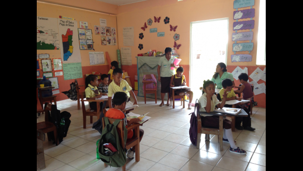 Photo provided by Larry and Jane Campbell - The inside of the Libertad RC School after the renovations funded by Rotary.