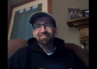 Screenshot via Google Meet - Centreville Cross Country Coach Rob Collins discusses his time as coach during Monday's Centreville Public Schools Board of Education meeting. The board accepted Collins' resignation after 23 seasons as coach during the meeting.